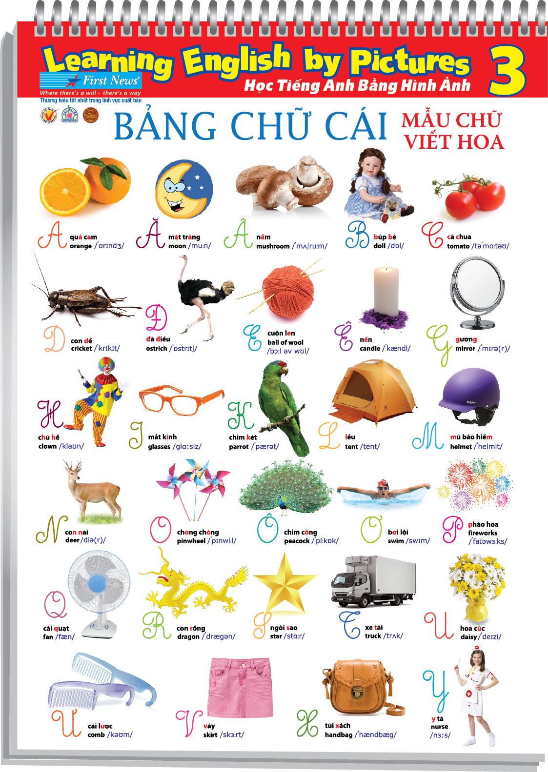 Poster Học Tiếng Anh Bằng Hình Ảnh Khổ Lớn 3